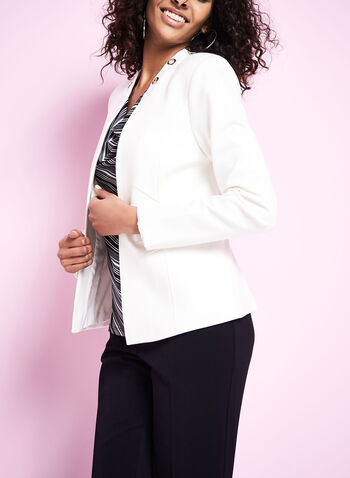 Open Front Eyelet Jacket, , hi-res