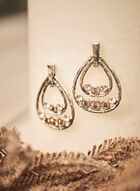 Teardrop Dangle Earrings, Yellow