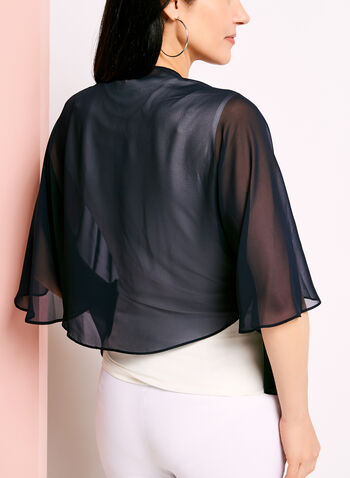 Sheer Convertible Bolero, Blue, hi-res