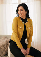 Cropped Faux Leather Jacket, Yellow