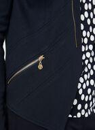 Vex - Blazer ouvert à détails zippés, Bleu, hi-res