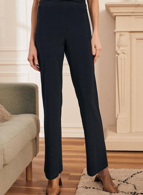 Pantalon pull-on coupe moderne, Bleu