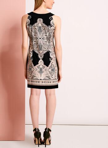 Embellished Paisley Print Dress, , hi-res
