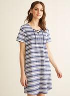 Claudel Lingerie - Chemise de nuit à rayures, Bleu