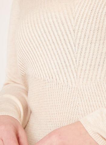 Asymmetric Hem Tunic Sweater, Off White, hi-res