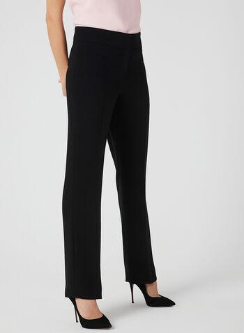 Louben - Pantalon coupe moderne à jambe droite, Noir, hi-res,