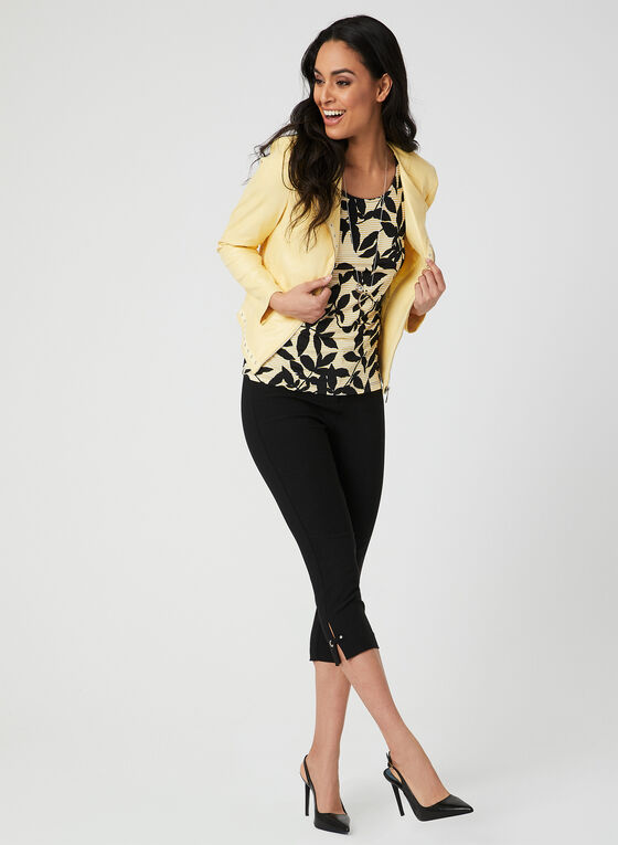 Leaf Print Top, Yellow