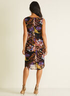Robe sans manches motif tropical, Violet