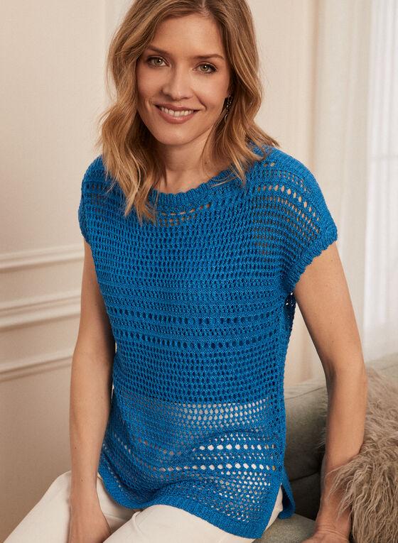 Crochet Sweater With Tank, Blue