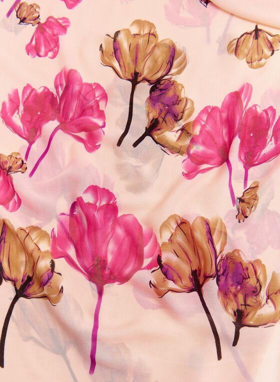 Foulard à fleurs , Rose, hi-res