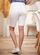 Floral Embroidered Capris, White