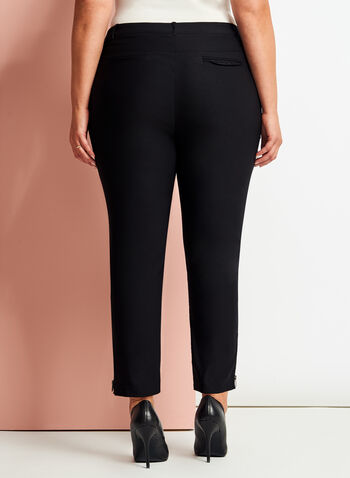 Signature Fit Slim Leg ⅞ Pants, Black, hi-res