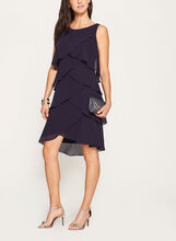 Sleeveless Tiered Chiffon Dress , Purple, hi-res