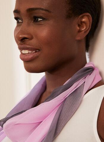 Ombré Lightweight Scarf, Purple,  scarf, lightweight, ombre, sheer, silk, spring summer 2021