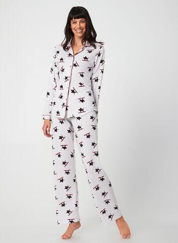 Midnight Maddie - Pyjama Set, Grey, hi-res,  Midnight Maddie, sleepwear, pyjama, fall 2019, winter 2019