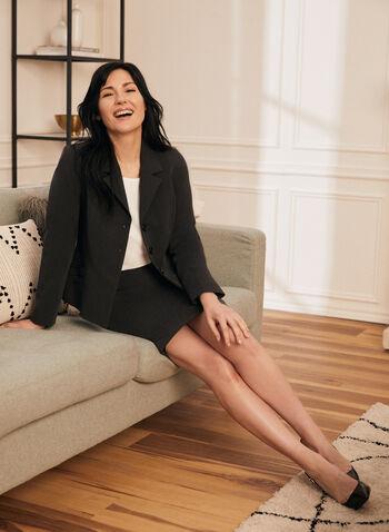 Pull-On Pencil Skirt, Grey,  skirt, pull-on, pencil, waistband, fall winter 2020