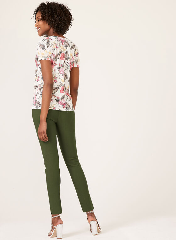 Floral Print T-Shirt, Green, hi-res