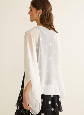 Chiffon Shawl, Off White,  spring summer 2020, shawl, chiffon, kimono sleeves