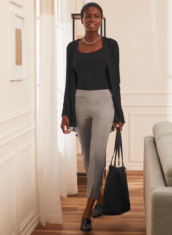 Open Front Long Sleeve Top, Black