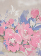 Foulard léger motif fleurs, Rose