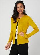 Long Sleeve Knit Cardigan, Yellow, hi-res
