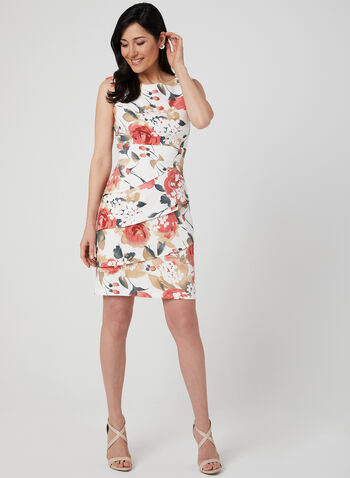 Floral Print Tiered Dress, Pink, hi-res,  sleeveless, stretchy, spring 2019