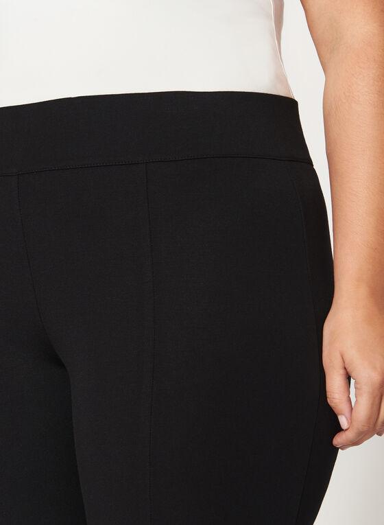 Ponte Pull-On Slim Leg Zipper Trim Pants, Black, hi-res