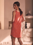 Button Detail Tank Nightgown, Orange