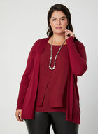 Open Front Cardigan, Red