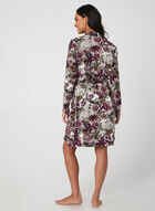 Hamilton - Floral Robe & Nightgown, Black