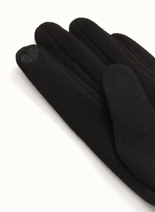 Gants tactiles en tricot, Noir, hi-res