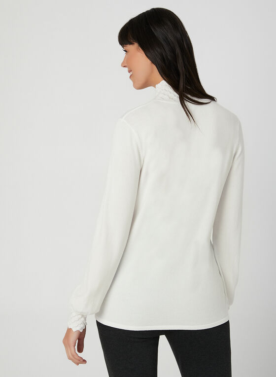 Mock Neck Sweater, Off White