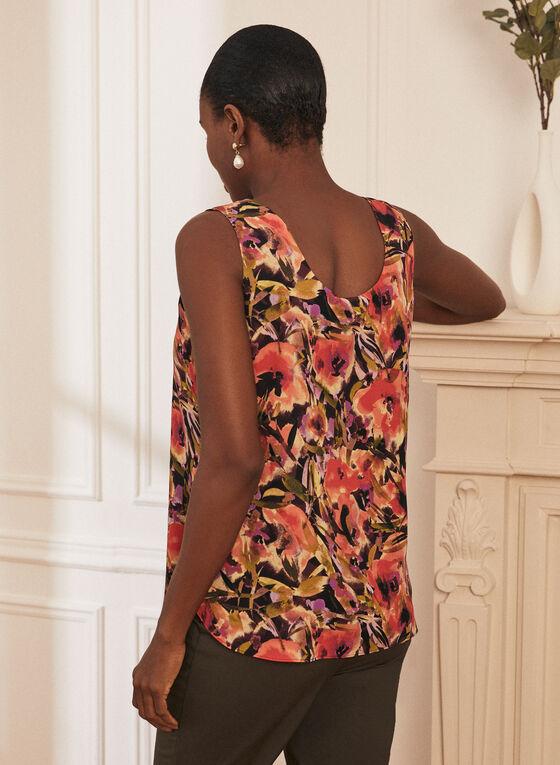 Haut sans manches réversible à motif floral, Noir