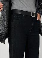 Simon Chang - Jean coupe signature à détails couture, Noir, hi-res