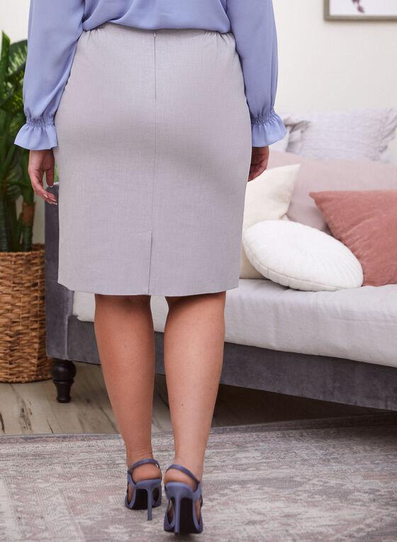 Straight Skirt, Grey