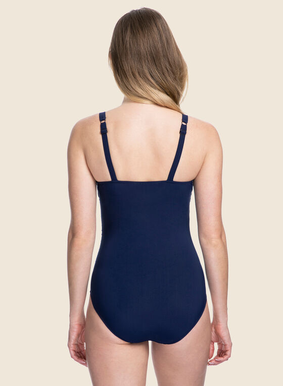 Profile by Gottex - Ruched Front One-Piece Swimsuit, Blue