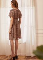 Cheetah Print Crossover Dress, Beige