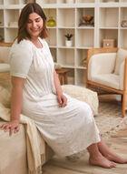 Stripe Print Nightgown, Off White
