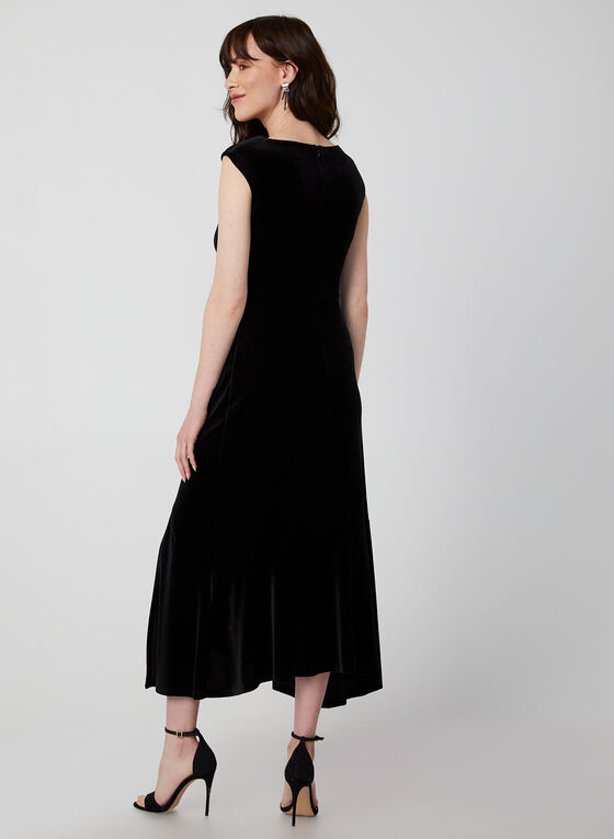 Long Velvet Dress, Black