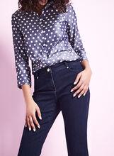Polka Dot Button-Down Shirt, Blue, hi-res