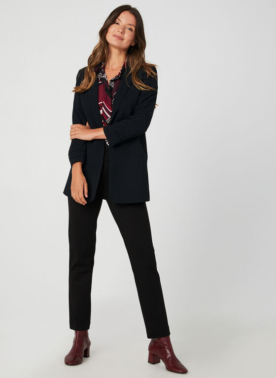 Long Crepe Blazer, Black, hi-res