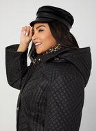 Anne Klein - Quilted Collar Coat, Black