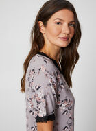 Bellina - Floral Print Nightgown, Off White, hi-res