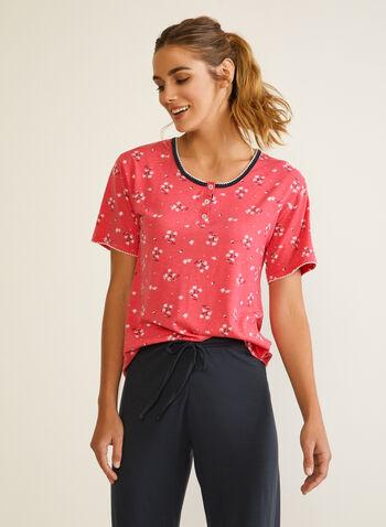 Short Sleeve Pyjama Set, Orange,  pyjama, set, fall winter 2020