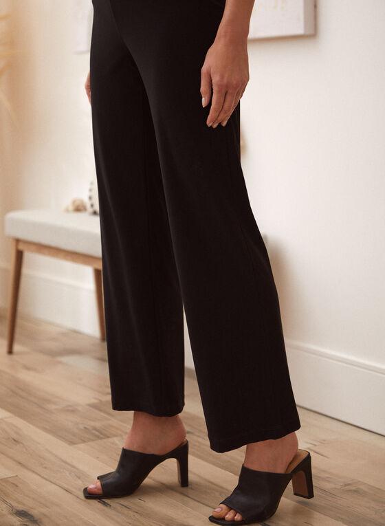Modern Fit Wide Leg Pants, Black