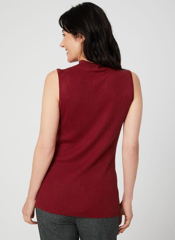 Haut sans manches en tricot, Rouge