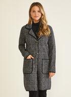 Tartan Print Cardigan Jacket , Grey