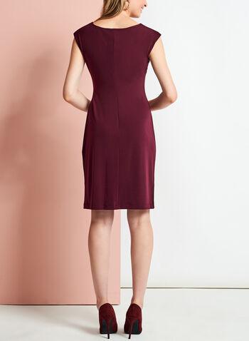 Cowl Neck Side Tuck Jersey Dress, , hi-res