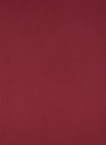 Foulard pashmina réversible, Rouge,  frange, deux tons, bi tons, automne hiver 2019