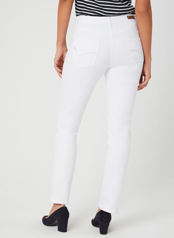 Simon Chang - Signature Fit Straight Leg Jeans, White